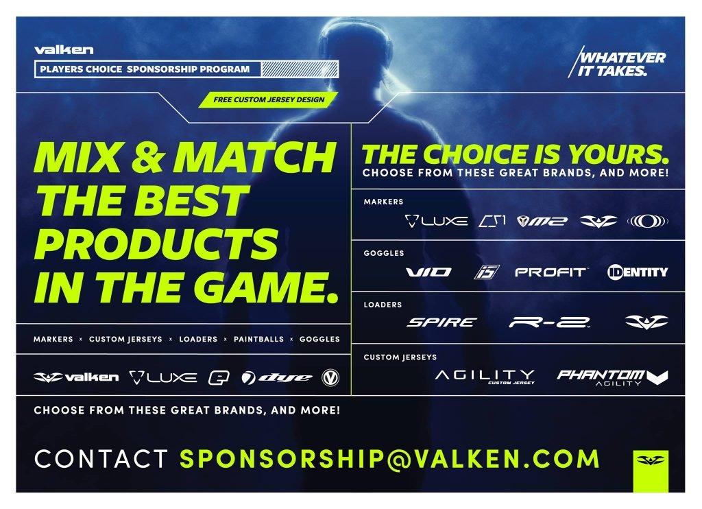 valken paintball sponsorship