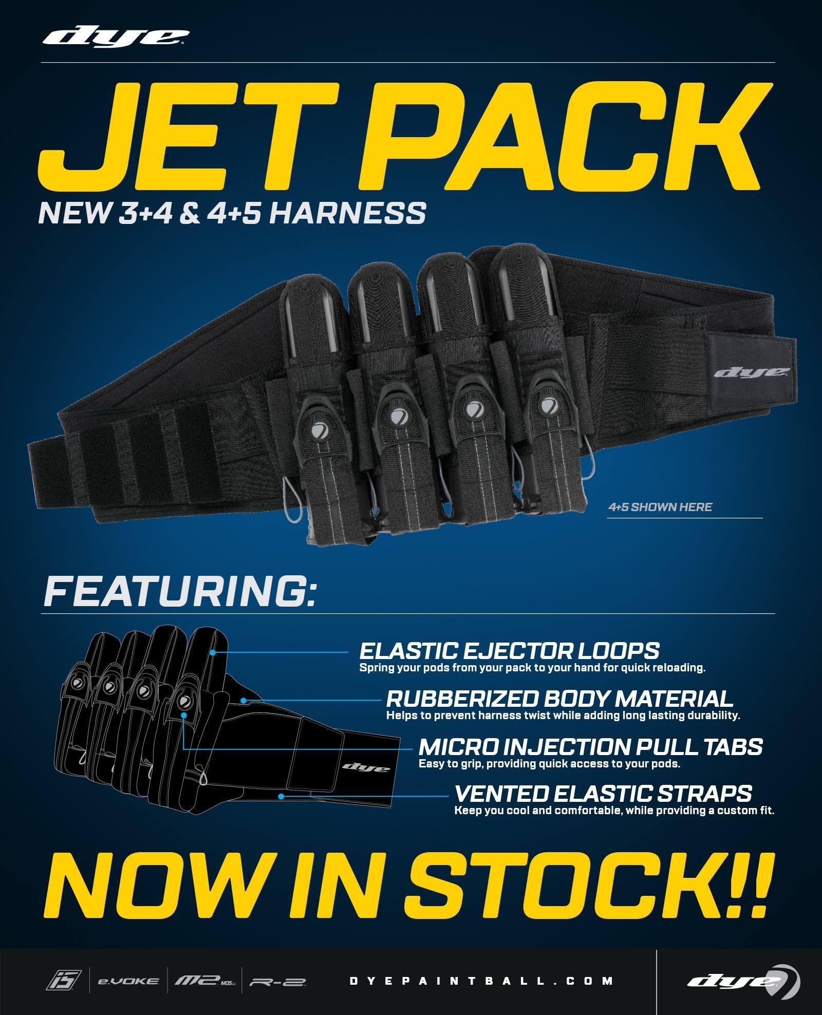 Dye Jet Pack Harrness